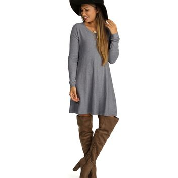 Promo- Heather Gray In The Swing Tunic