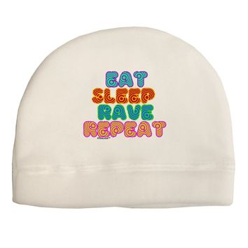 Eat Sleep Rave Repeat Hypnotic Child Fleece Beanie Cap Hat by TooLoud