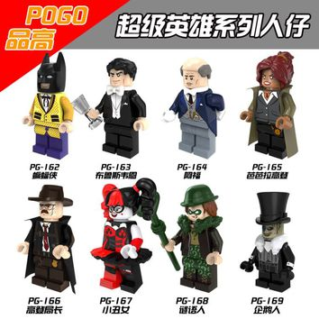 Single Sale Batman Bruce Wayne Riddler Alfred Barbara Penguin Gordon Robin Harley Quinn Building Compatible With Lego Movie