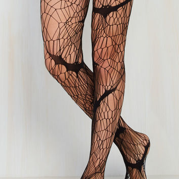 The Angled Webs We Weave Tights | Mod Retro Vintage Tights | ModCloth.com