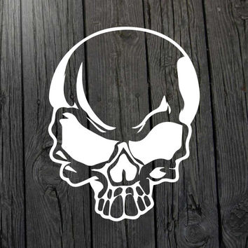 Skull decal Skull sticker Skull car window decal Skull car window sticker Skull laptop sticker Skull laptop decal Skull wall decal Skeleton