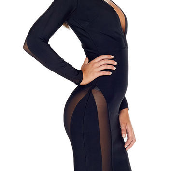 Copy of Agatha Bandage Dress - Black