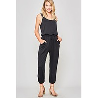 Black Knit Jumpsuit