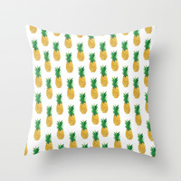 Pineapples Throw Pillow by millymay2