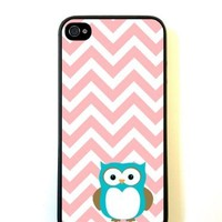 Owl Coral Chevron iPhone 5c Case Fits iPhone 5c