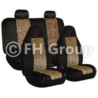 FH GROUP FH-FB126114 Leopard Car Seat Covers, Airbag compatible and Split Bench, 2 Tone