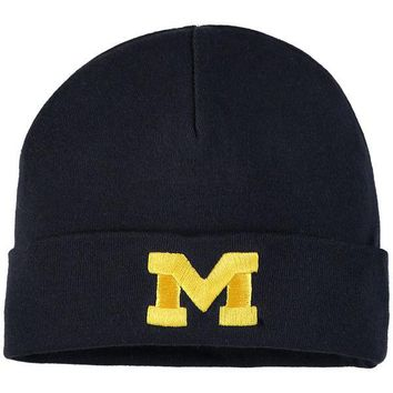 Michigan Wolverines Top of the World Simple Cuffed Knit Hat
