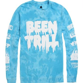 Been Trill Identity Crew Fleece - Mens Hoodie - Purple