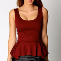 Tina Bodycon Peplum Top