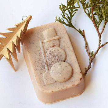 Snowman soap-Christmas soap-Cinnamon soap-Kids soap-Winter holidays soap-Children's soap-vegan decorative-natural-christmas gift-guest soap