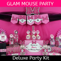 DELUXE Glam Mouse Party / Minnie Mouse Inspired Birthday Party / DELUXE Party Kit