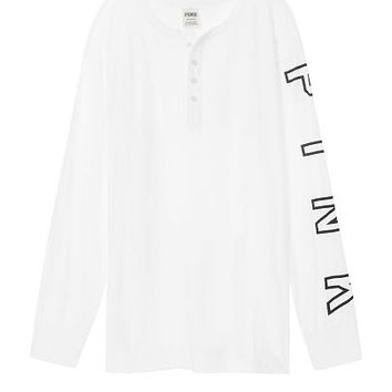 Campus Long Sleeve Henley Tee - Victoria's Secret