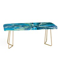 Rosie Brown Bursting Bromeliad Bench