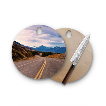 Endless Summer Drive Love Round Cutting Board Trendy Unique Home Decor Cheese Board