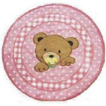 L.A. Rug TSC-238-39RD Supreme Teddy Center Pink Round: 3 Ft. 3 In. Rug
