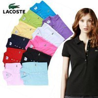 HOT LACOSTE WOMEN?POLO?T?SHIRT?10 COLORS