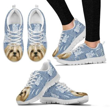 Shih Tzu Dog Print Running Shoes For Women-Free Shipping