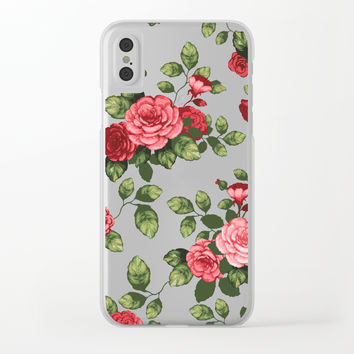 Flowers Transparent Phone Case Clear iPhone Case by mcannon1998