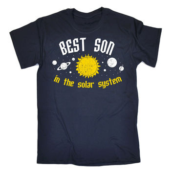 123t USA Men's Best Son In The Solar System Galaxy Design Funny T-Shirt