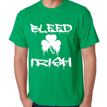 Men's T Shirt Bleed Irish St Patrick's Party Top Love Irish