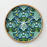 Ambrosia Blue Wall Clock by Heather Dutton