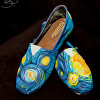 Starry Night Inspired Toms Shoe by BPillustration on Etsy