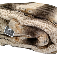 Tache Brown Safari Faux Fur Throw Blanket