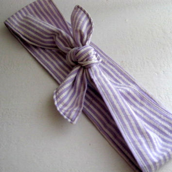 Bandana Hairband, Rockabilly 50s Bandana, Bandana Headband, Knotted Bandana, BOHO Hairband, Women n Teens, Fabric Headband, Lavender