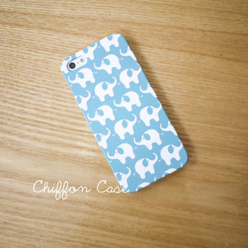 Baby Elephant iPhone 5 Case , iPhone 5s Case, Blue Elephant iPhone 5 Cover, Unique Apple iPhone Case, Cute iPhone 5 Cases