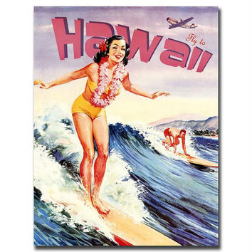 Hawaii-Gallery Wrapped 24x32 Canvas Art