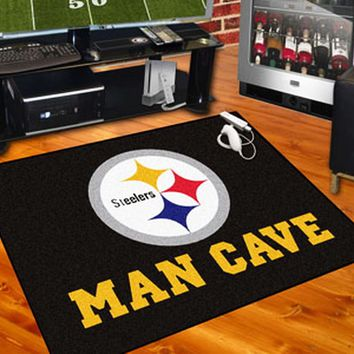 Pittsburgh Steelers Man Cave Area Rug Choose 4 Sizes