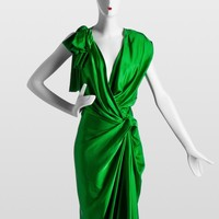 Lanvin  -  SATIN DAY-DRESS - Green