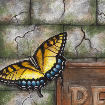 Butterfly Print Watercolor Painting by TheDaytimeHeroes on Etsy