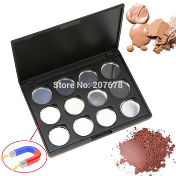 High-quality 12 PCS 26mm Empty Magnetic Eyeshadow Concealer Aluminum Pans With Palette Makeup Tools Cosmetics DIY Box