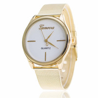 Womens Classic Style Casual Watches Girl Hight Quality Gold Alloy Strap Watch Best Christmas Gift 405