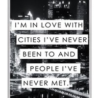 Trendy City Life Love Quote Snap-On Hard Cover Carrying Case for iPhone 4/4S (White)