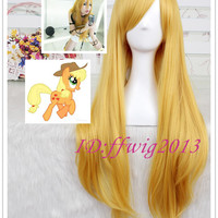 Online Shop 80cm long yellow Lily VOCALOID + My Little Pony applejack cosplay wigs CC119|Aliexpress Mobile