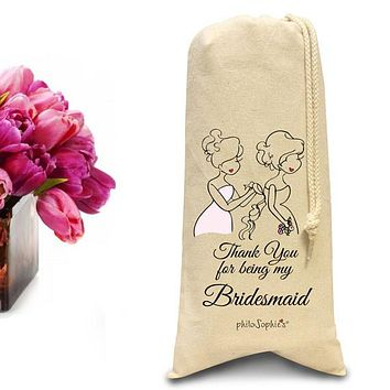 Thank you for being my bridesmaid tote/Wine & Spirits Tote