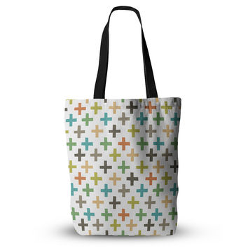 "Daisy Beatrice ""Hipster Crosses Repeat"" Multicolor Everything Tote Bag"