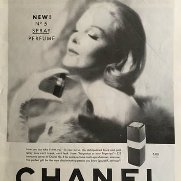1959 Chanel No.5 Prefume Vintage Magazine Ad Art For Framing-Vintage Ephemera Print Ad-Retro Wall Art Collectible-Wall Decor