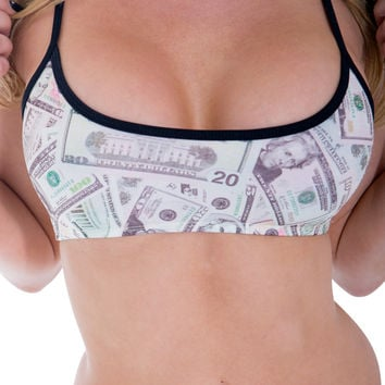 New Money Print Crop Top By Sassy Assy