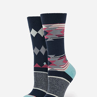 Stance Alter Ego Tomboy Womens Socks Navy One Size For Women 26636121001
