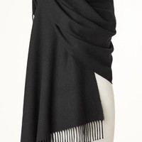 Blanket Scarf - Shawl - Stole - Wrap - Plain Luxury Black