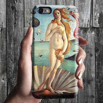 The Birth of Venus - Sandro Botticelli iPhone Case 6, 6S, 6 Plus, 4S, 5S. Phone Cell. Art Painting. Gift Idea. Anniversary. Gift for him/her