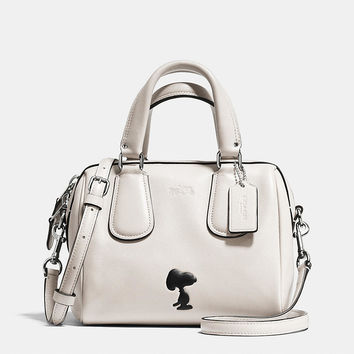 Coach X Peanuts Mini Surrey Satchel in Leather