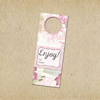 Custom Wine Tags for any Occasion or Event - Wedding, New Baby, Engagement - Shabby Chic Paris- Gift Tag