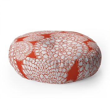 Heather Dutton Delightful Doilies Saffron Floor Pillow Round