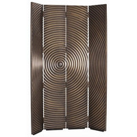 Arteriors Home Epicenter Vintage Brass Metal Clad Room Screen - Arteriors Home DD2020