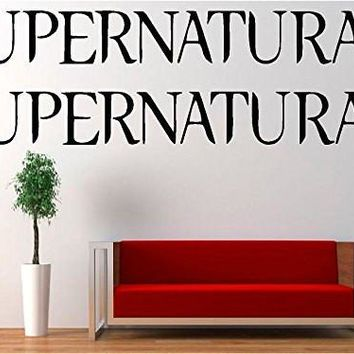 2x Supernatural Logo Vinyl Decal Sticker for Car Laptop Wall Truck Windows