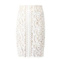 Libra Japanese-lace pencil skirt